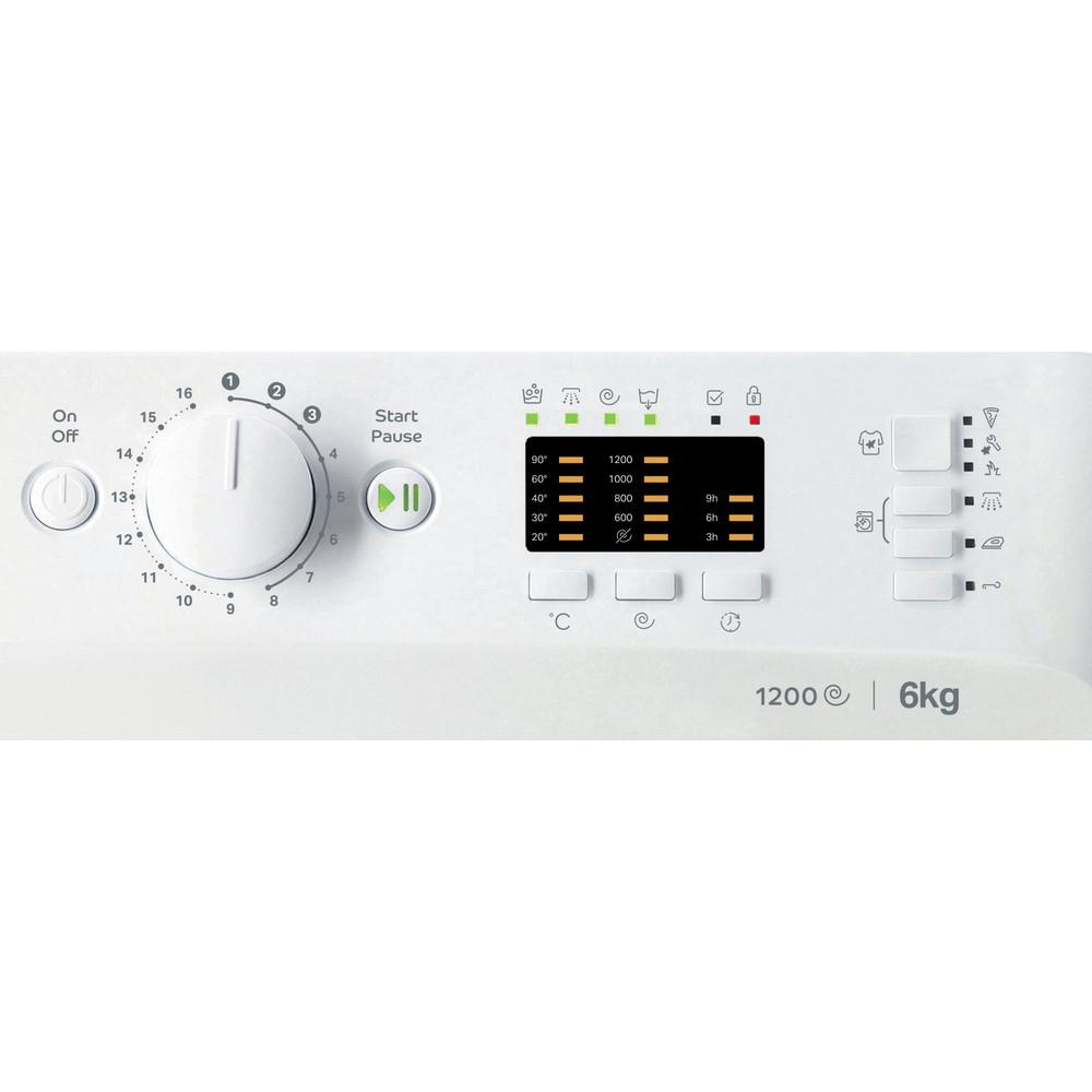 Indesit Wasmachine Vrijstaand MTWSA 61252 W EE Wit Voorlader F Control panel