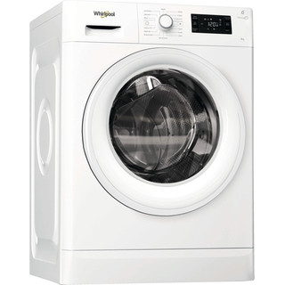 Whirlpool Washing machine Free-standing FWG71484W UK White Front loader A+++ Perspective