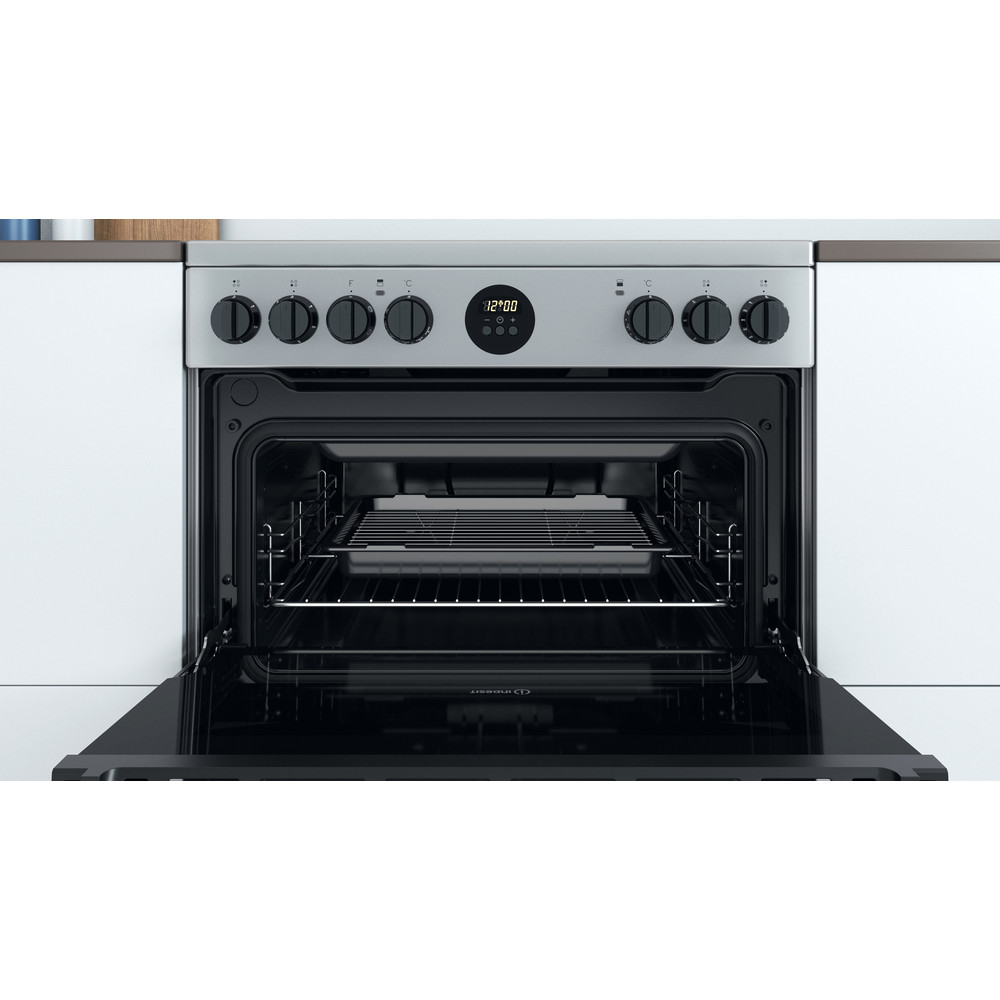 Indesit Double Cooker ID67V9HCX/UK Inox A Cavity