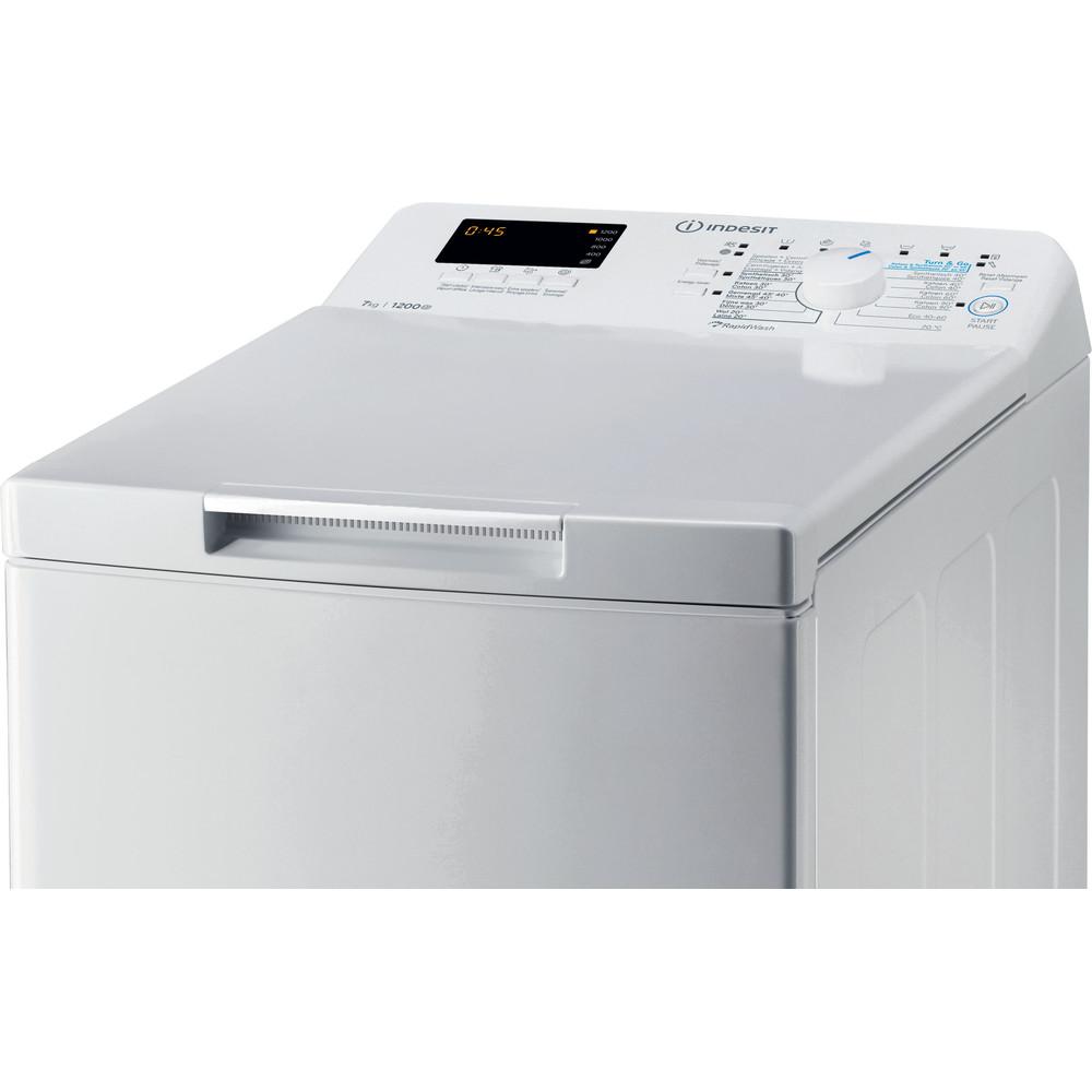 Indesit Lave-linge Pose-libre BTW S72200 BX/N Blanc Par le dessus E Control panel