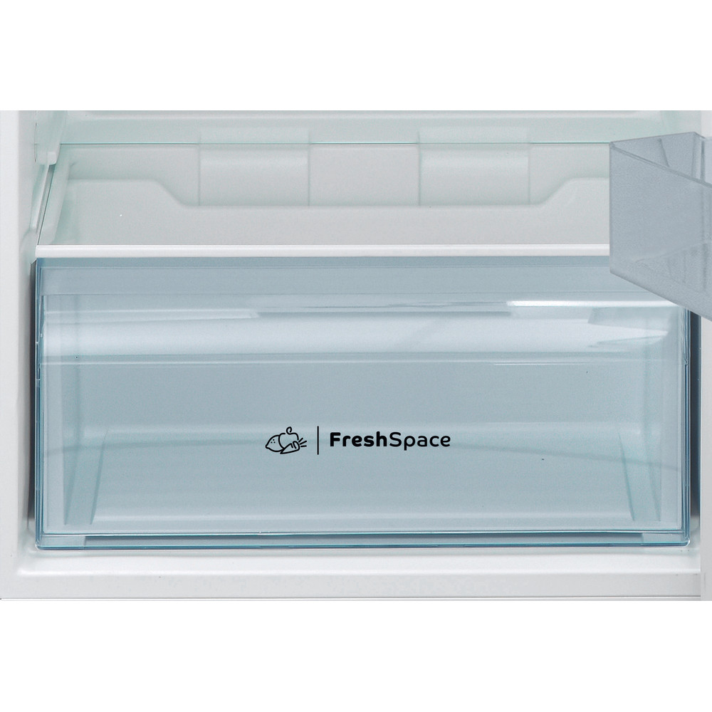Indesit Kombinovaná chladnička s mrazničkou Voľne stojace I55TM 4120 W Biela 2 doors Drawer