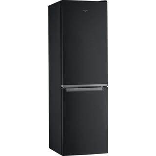 Whirlpool Kombinētais ledusskapis/saldētava Brīvi stāvošs W7 811I K Melna 2 doors Perspective