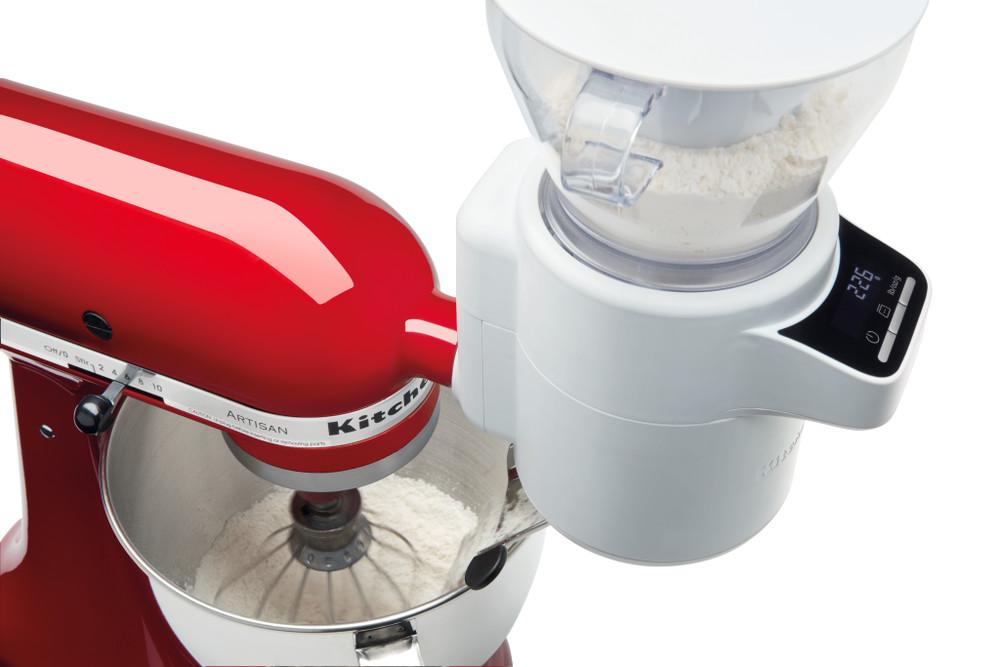 KitchenAid farina Setaccio e scala allegato in bianco