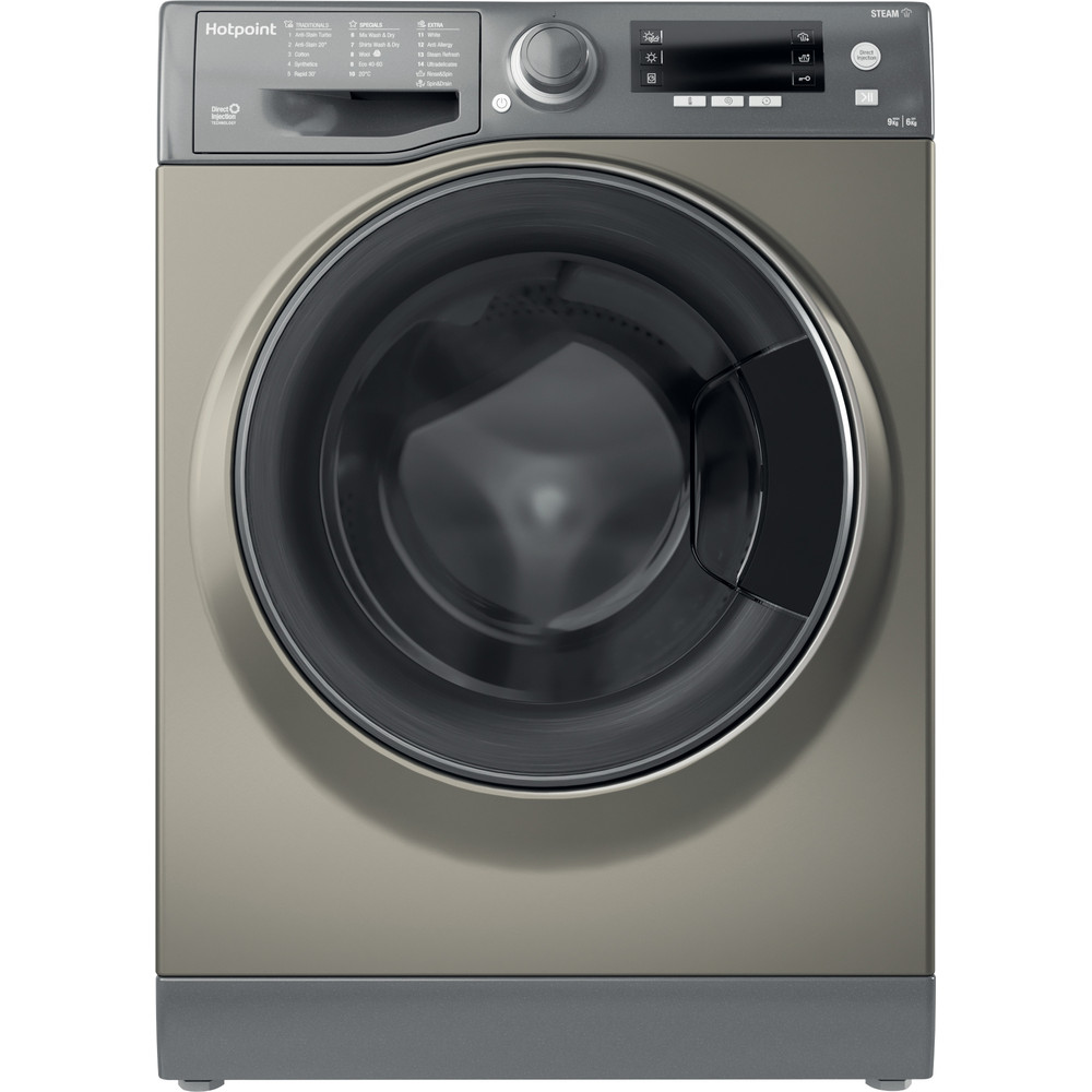Hotpoint Washer dryer Free-standing RD 966 JGD UK N Graphite Front loader Frontal