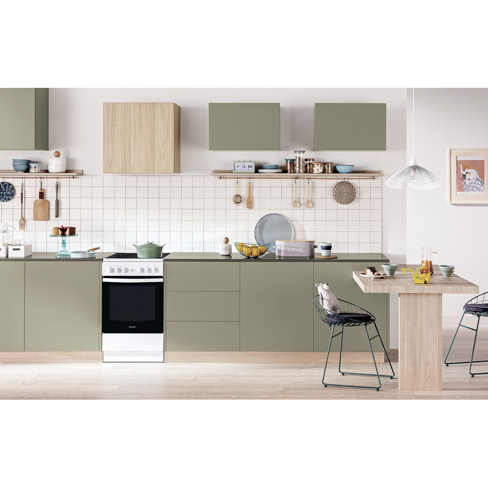 Indesit Plīts IS5V8GMW/E Balts Electrical Lifestyle frontal