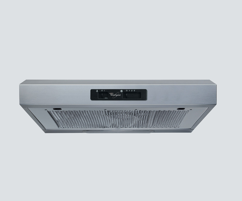 Whirlpool Hotte Encastrable WSLK 65 AS X Inox Mural Mécanique Frontal