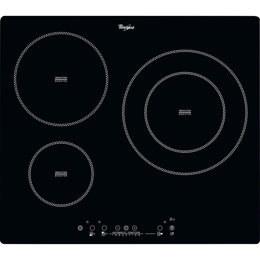 Placa de inducción Whirlpool ACM 801/NE con 3 zonas de cocción