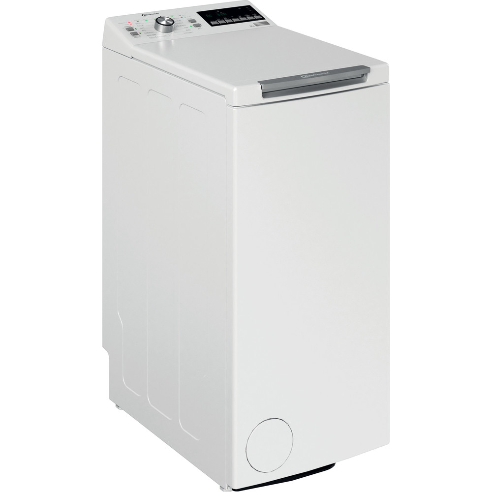 Bauknecht Waschmaschine Standgerät WMT Style 722 ZEN N Weiss Toplader E Perspective