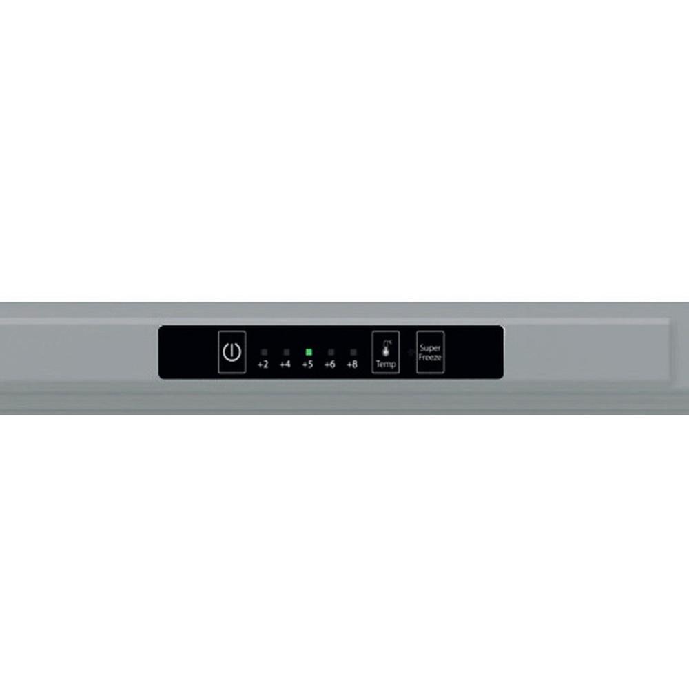 Indesit Combinación de frigorífico / congelador Libre instalación XI9 T2I X Inox 2 doors Control panel