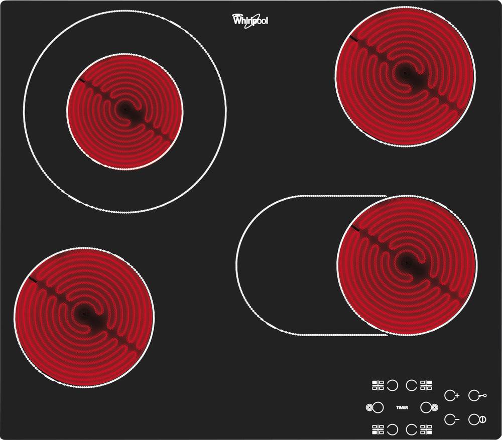 Whirlpool Paviršius AKT 8210/NE Juoda Radiant vitroceramic Frontal
