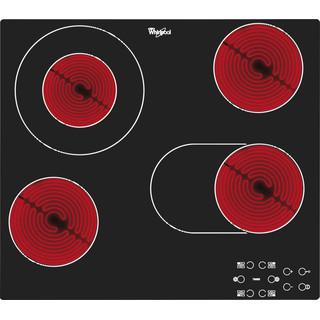Whirlpool Plīts virsma AKT 8210/NE Melna Radiant vitroceramic Frontal