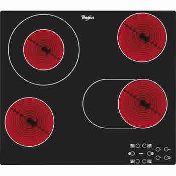 Whirlpool Płyta grzewcza AKT 8210/NE Czarny Radiant vitroceramic Frontal