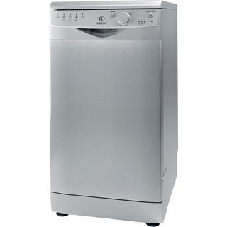 Посудомийна машина Indesit: вузька, сріблястий колір