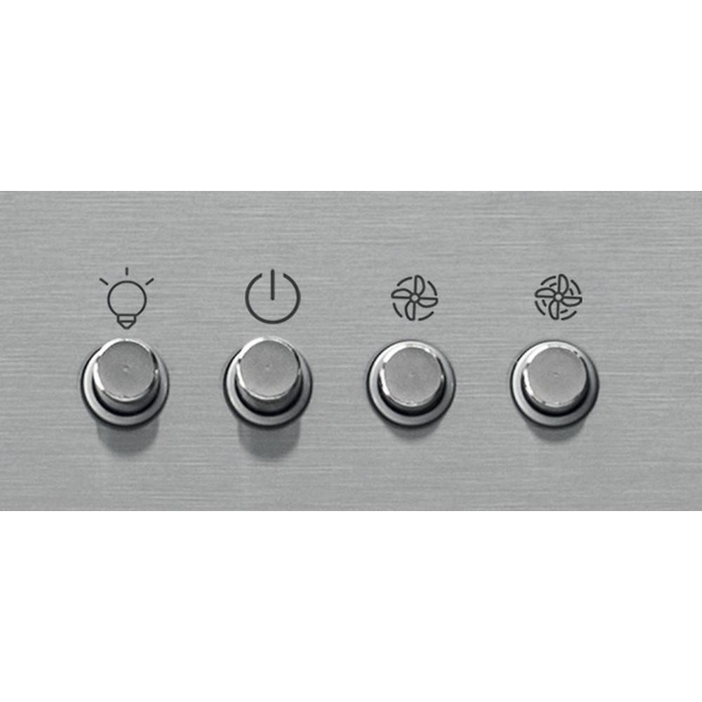 Indesit Dampkap Inbouw IHBS 9.4 LM X Inox Wandmodel Mechanisch Control panel