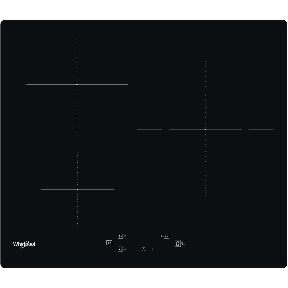 Placa de inducción Whirlpool - WS Q5760 NE - 3 Zonas - Mando Control Touch