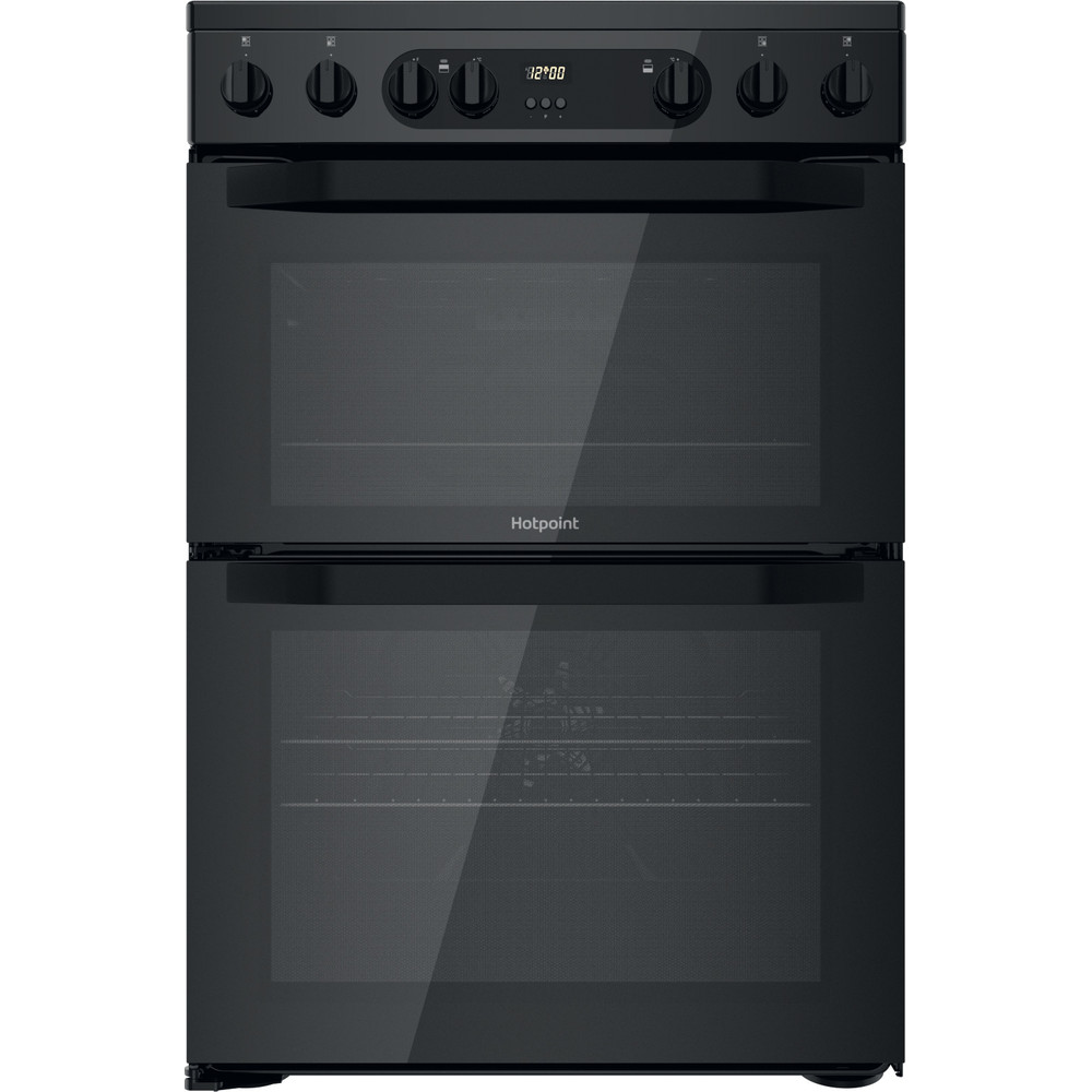 Hotpoint Double Cooker HDM67V9CMB/UK Black A Frontal