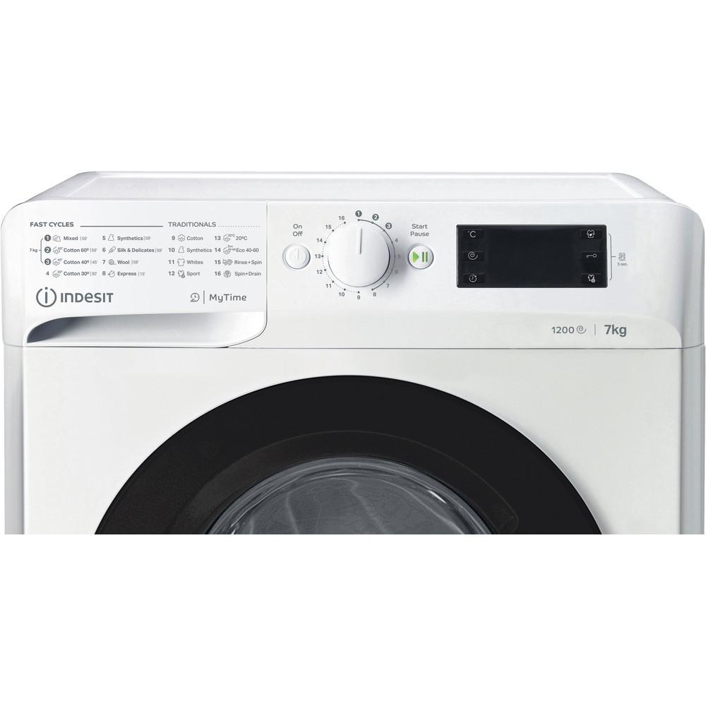 Indsit Maşină de spălat rufe Independent MTWE 71252 WK EE Alb Încărcare frontală A +++ Control panel