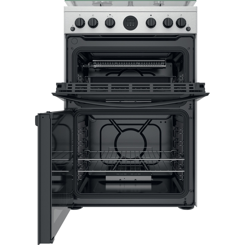 Indesit Double Cooker ID67G0MCX/UK Inox A+ Frontal open