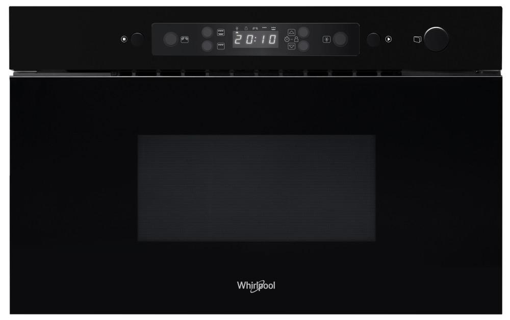 Whirlpool Mikrohullámú sütő Beépíthető AMW 439/NB Fekete Érintőszenzoros kezelés 22 Mikrohullám+grill funkció 750 Frontal