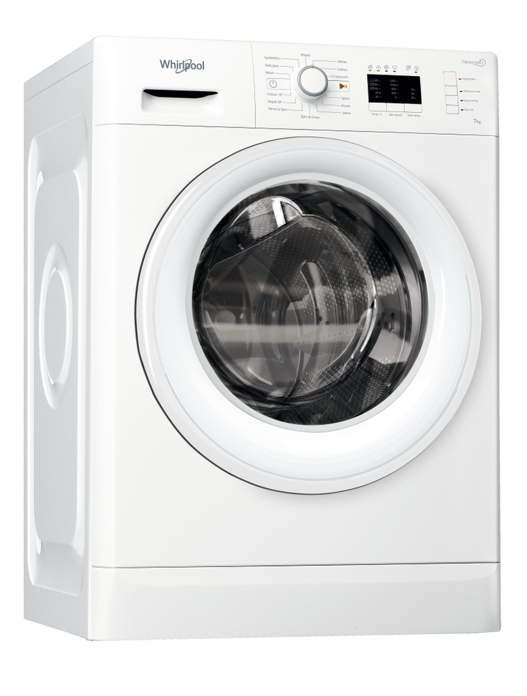 Whirlpool Washing machine Free-standing FWL71253W UK White Front loader A+++ Perspective