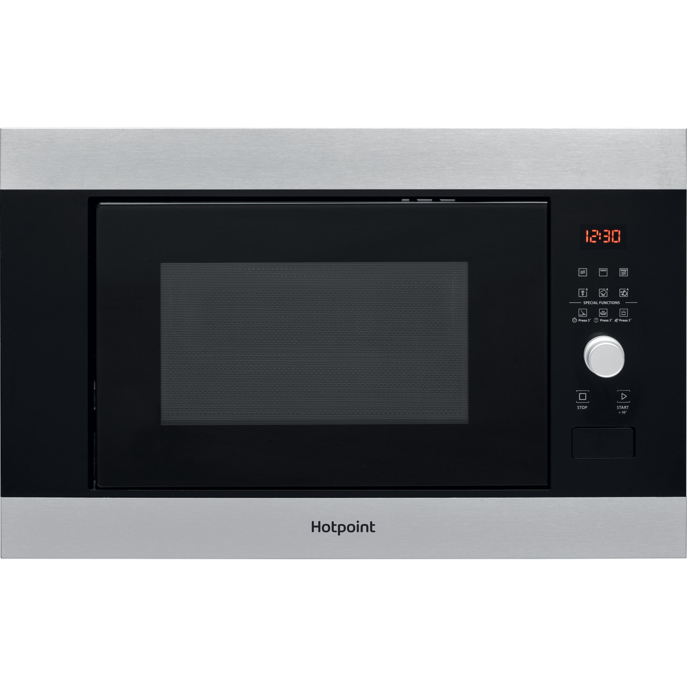 Hotpoint Microwave Built-in MF25G IX H Inox Electronic 25 MW+Grill function 900 Frontal