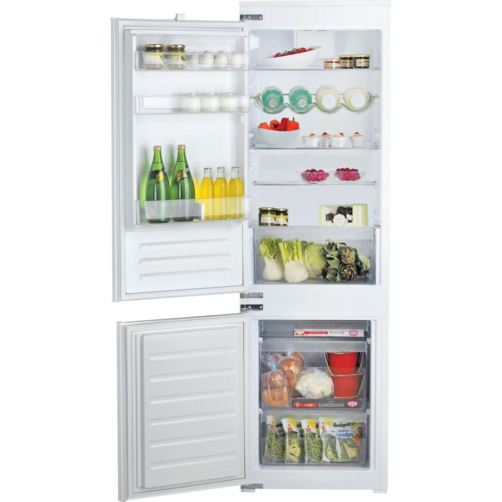 Hotpoint_Ariston Combinazione Frigorifero/Congelatore Da incasso BCB 7030 D AA S Acciaio 2 porte Frontal open