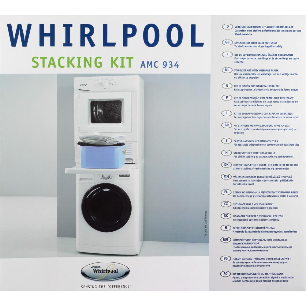 Комплект штабелювання пральної та сушильної машин WPRO AMC934