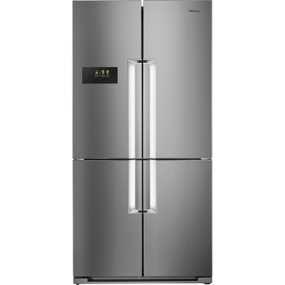 Hotpoint Side-by-Side Free-standing HPSN  4T A+ IN Inox Frontal