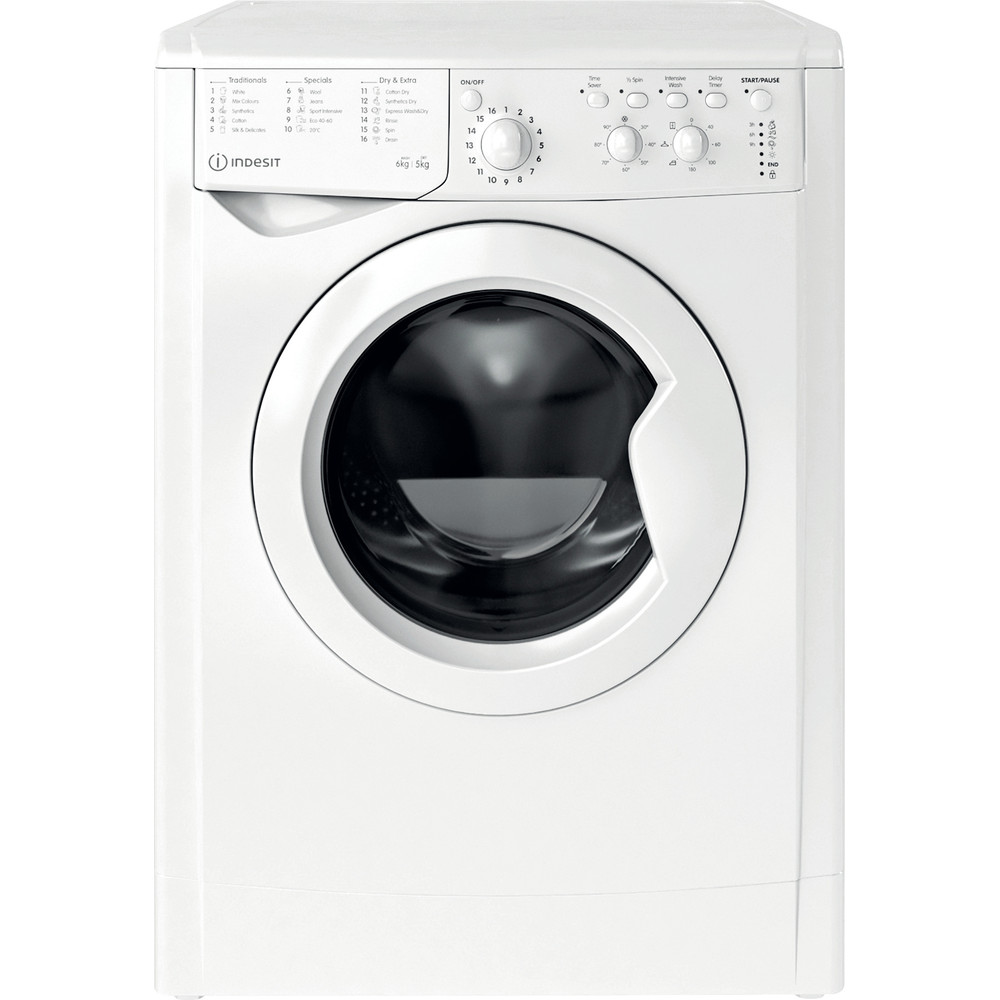 Indesit Washer dryer Free-standing IWDC 65125 UK N White Front loader Frontal