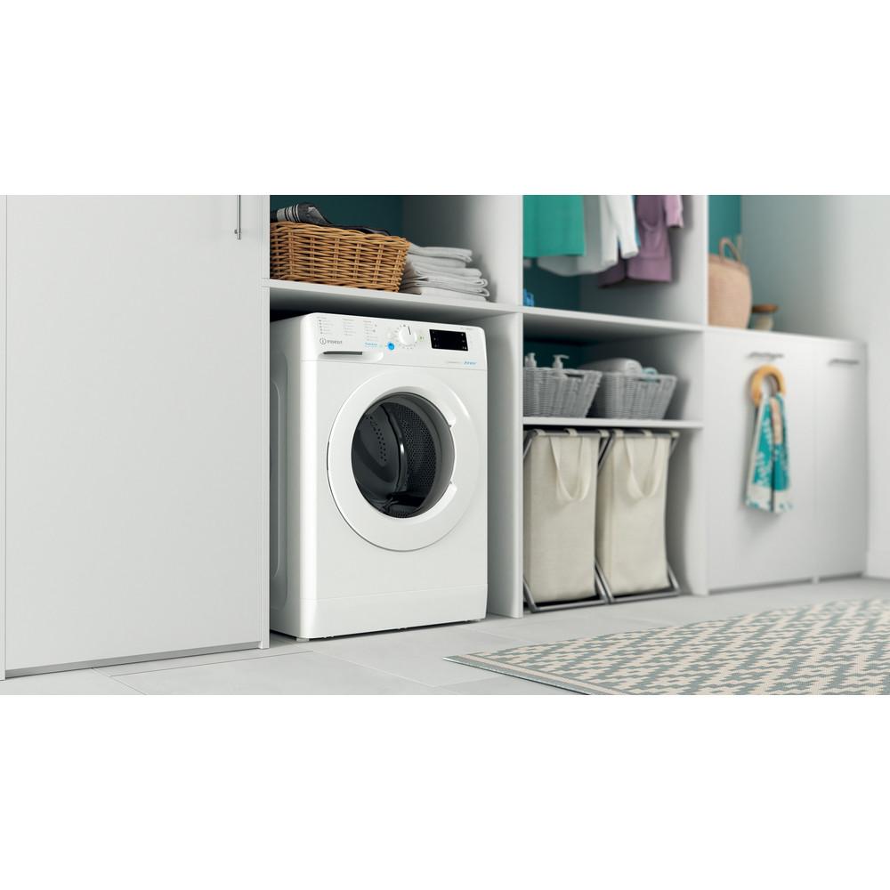 Indesit Washing machine Free-standing BWE 91484X W UK N White Front loader C Lifestyle perspective