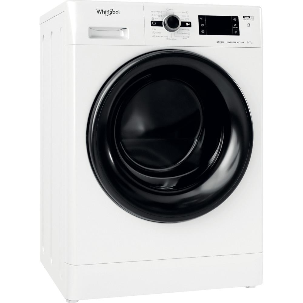 Whirlpool fristående tvätt-tork: 9,0 kg - FWDG 971682 WBV EE N