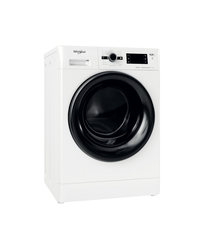 Whirlpool Washer dryer Samostojeća FWDG 971682 WBV EE N Bela Prednje punjenje Perspective