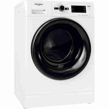 Whirlpool Maşină de spălat rufe cu uscător Independent FWDG 971682 WBV EE N Alb Încărcare frontală Perspective
