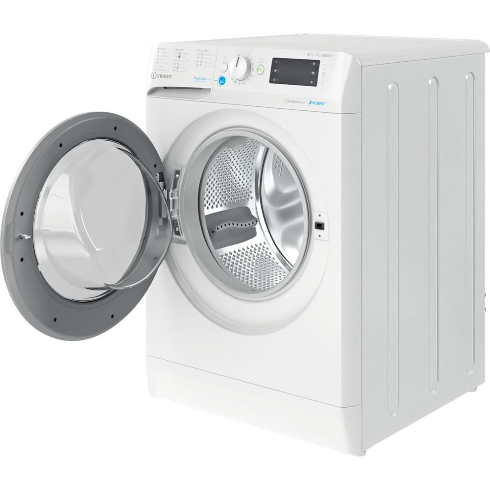 Indesit Πλυντήριο-στεγνωτήριο Ελεύθερο BDE 1071682X WS EE N Λευκό Front loader Perspective open