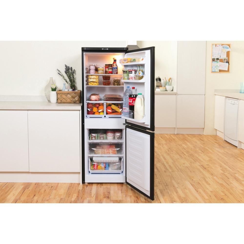 Indesit Fridge-Freezer Combination Free-standing IBD 5515 B 1 Black 2 doors Lifestyle frontal open