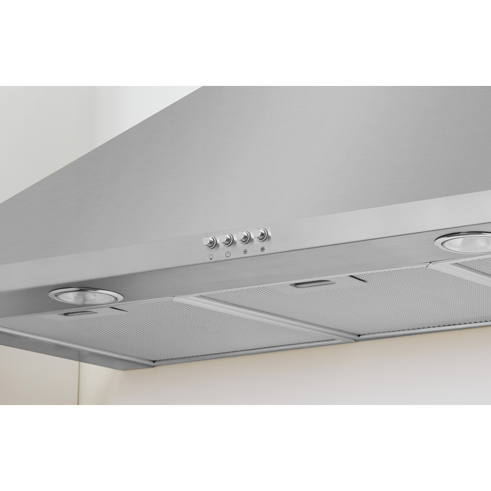 Indesit HOOD Built-in IHPC 9.5 LM X Inox Wall-mounted Mechanical Lifestyle control panel