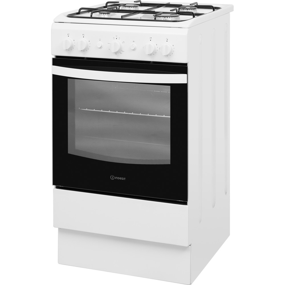 Indesit Cooker IS5G1KMW/U White GAS Perspective