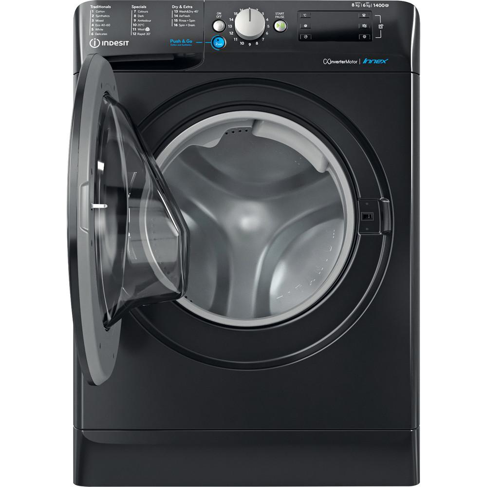 Indesit Washer dryer Free-standing BDE 861483X K UK N Black Front loader Frontal open