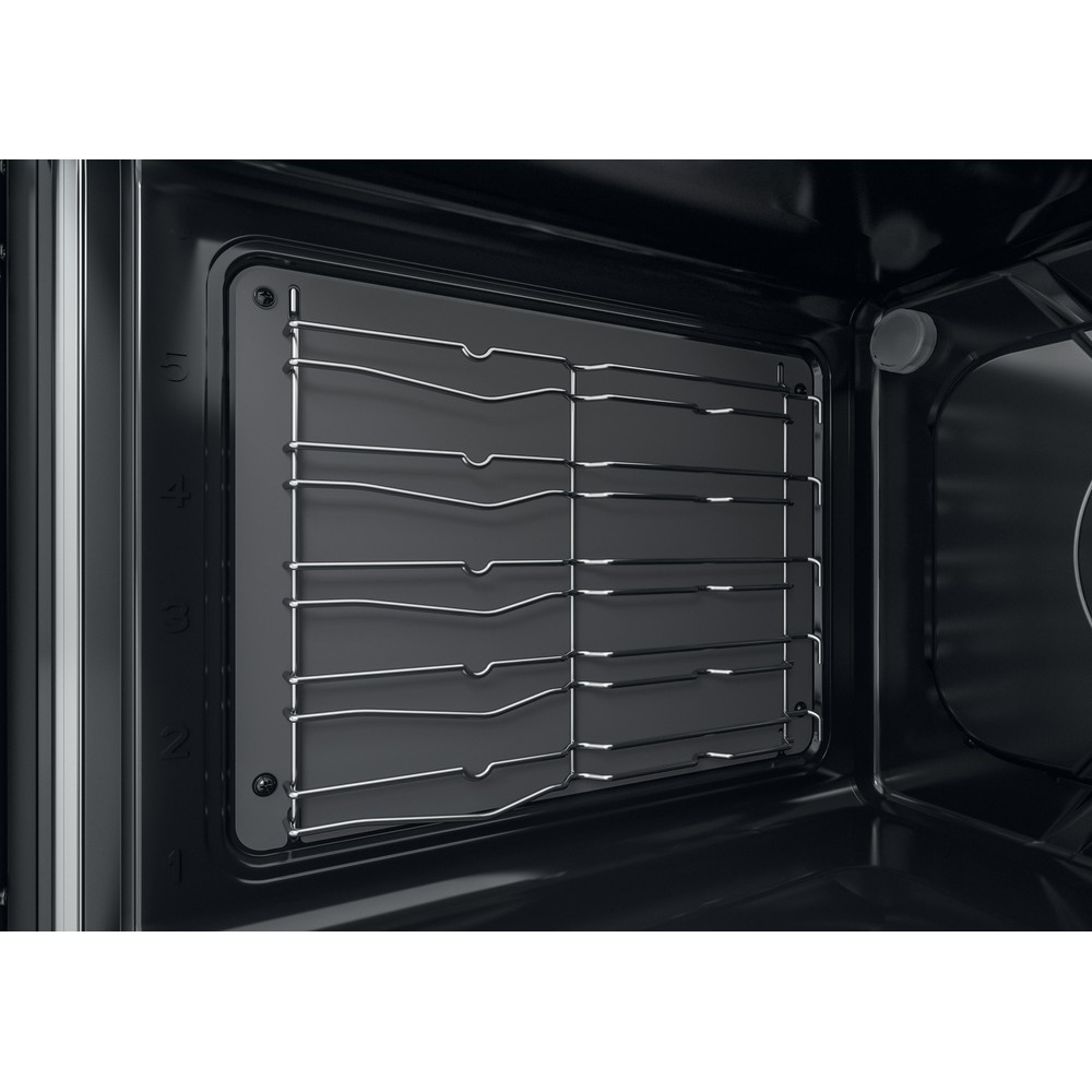 Indesit Double Cooker ID67G0MCB/UK Black A+ Lifestyle perspective