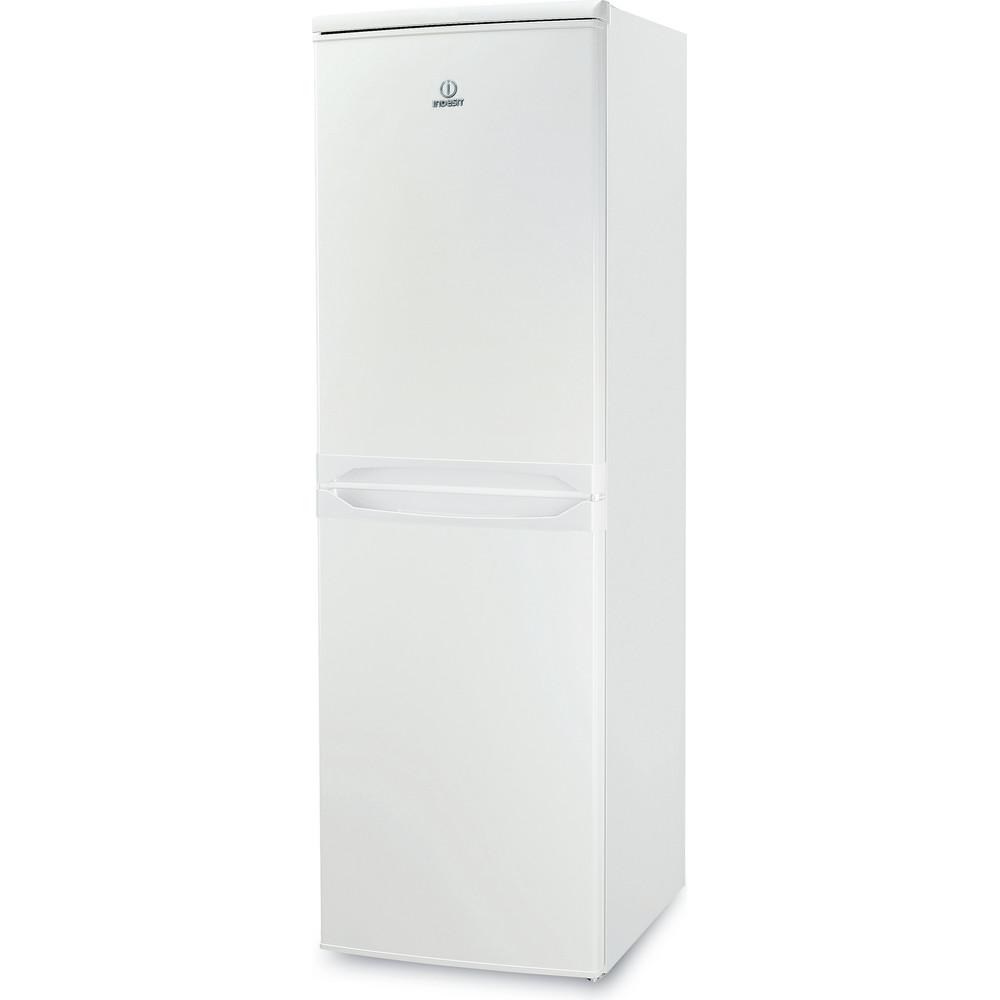 Indesit Комбиниран хладилник с камера Свободностоящи CAA 55 1 Бял 2 врати Perspective