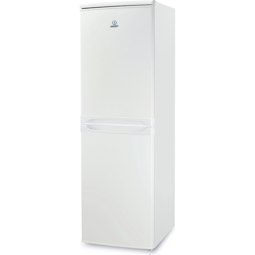Indesit Combinación de frigorífico / congelador Libre instalación CAA 55 1 Blanco 2 doors Perspective