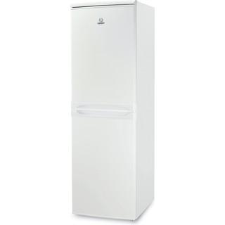 Indesit Køleskab/fryser kombination Fritstående CAA 55 1 Hvid 2 doors Perspective