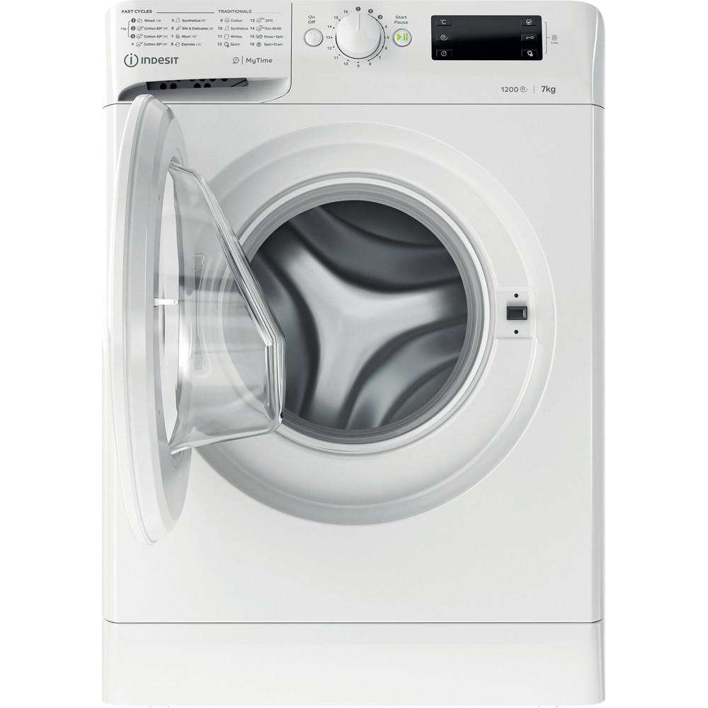 Indsit Maşină de spălat rufe Independent MTWE 71252 W EE Alb Încărcare frontală A +++ Frontal open