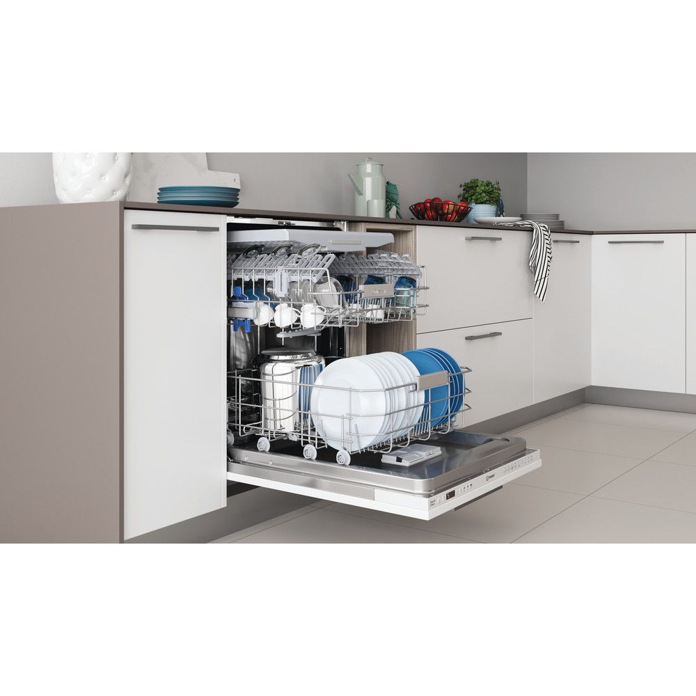 Indesit Dishwasher Built-in DIO 3T131 FE UK Full-integrated D Lifestyle perspective open
