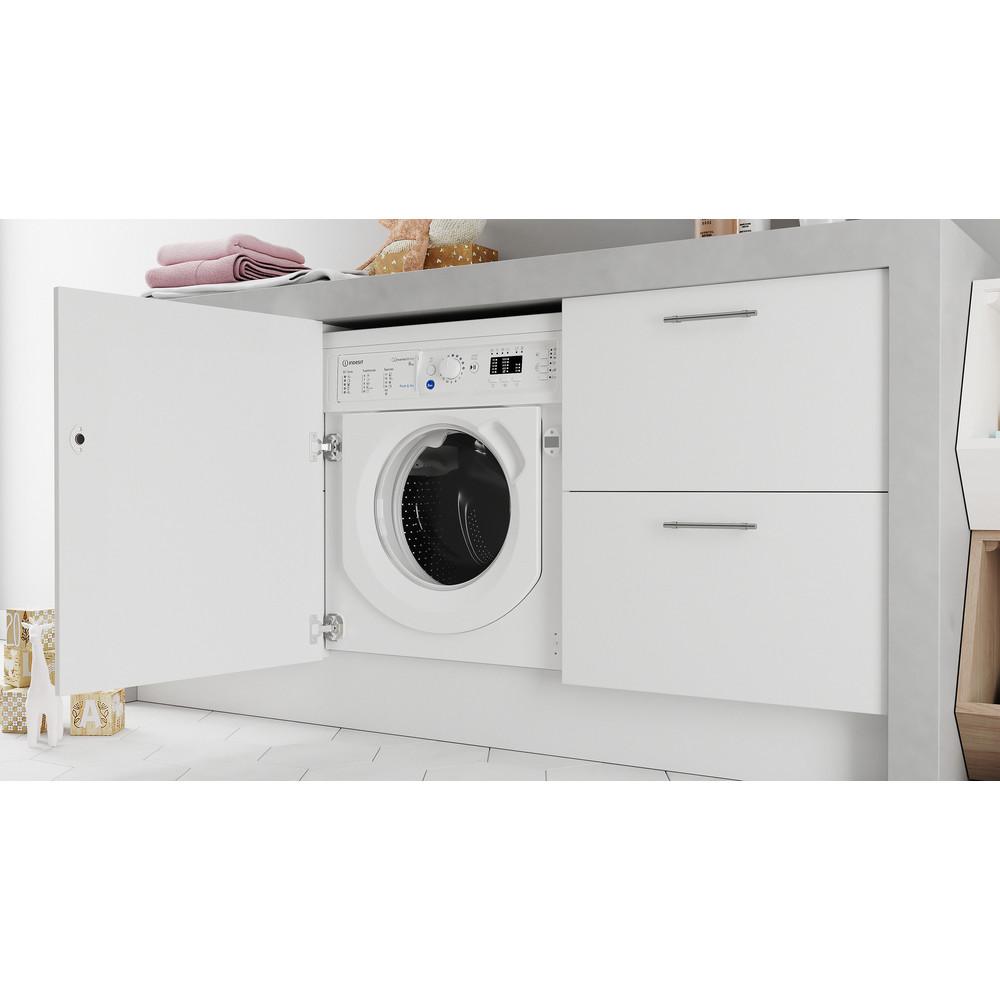 Indesit Máquina de lavar roupa Encastre BI WMIL 81284 EU Branco Carga Frontal C Lifestyle perspective