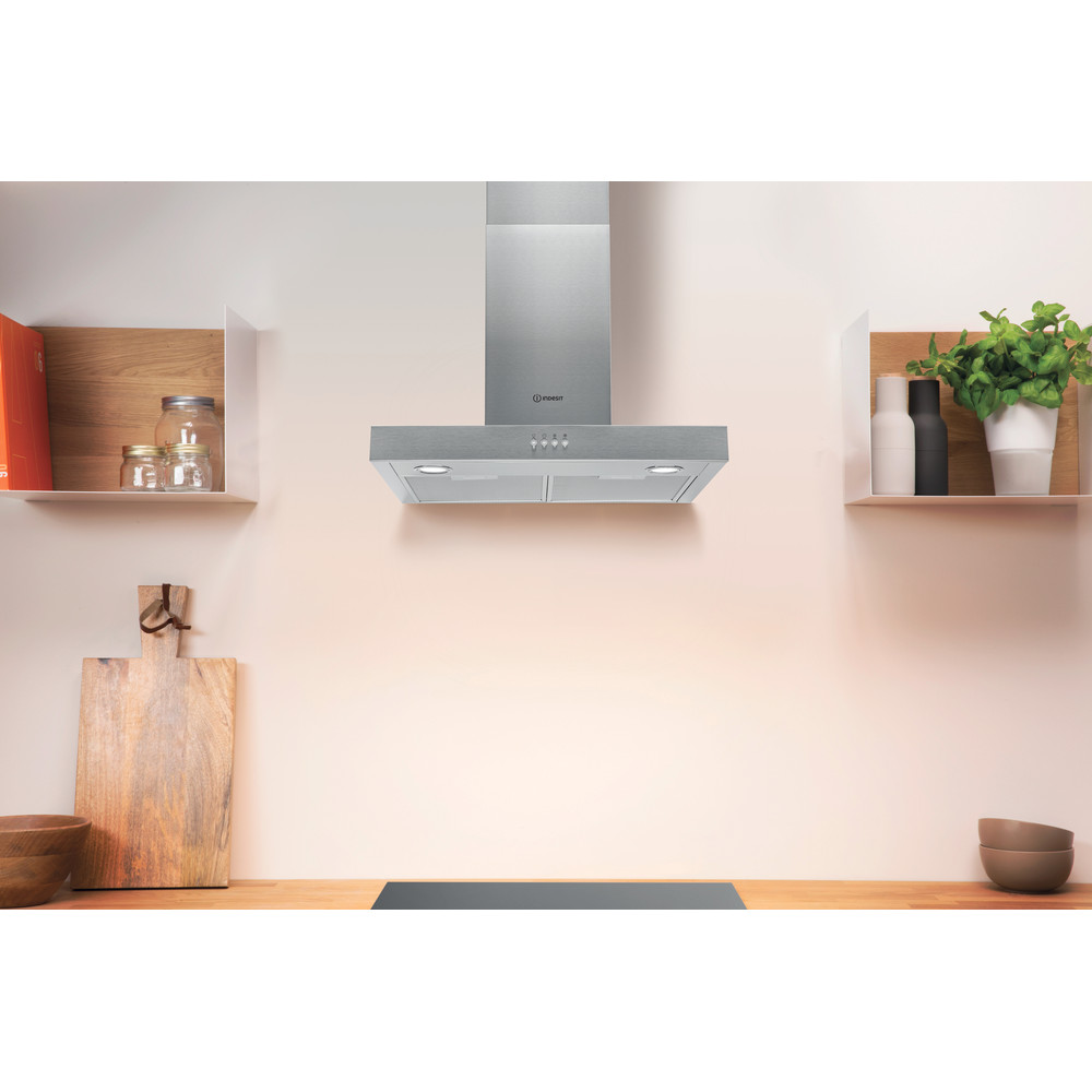 Indesit HOOD Built-in IHBS 6.5 LM X Inox Wall-mounted Mechanical Lifestyle frontal