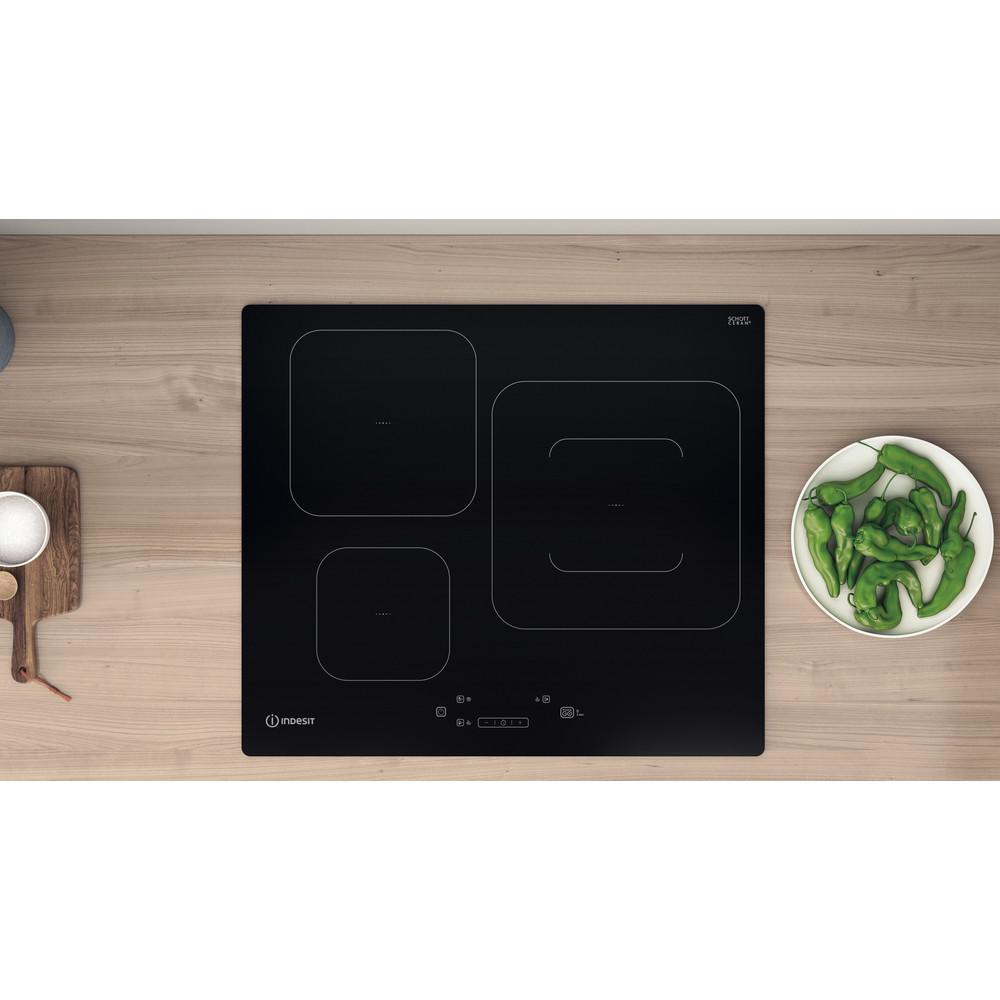 Indesit Table de cuisson IS 33Q60 NE Noir Induction vitroceramic Lifestyle frontal