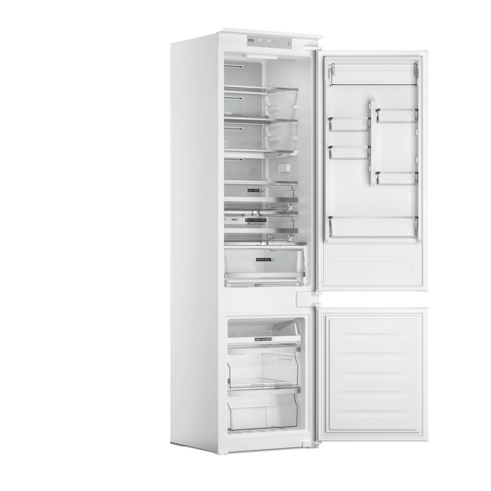 Whirlpool Šaldytuvo / šaldiklio kombinacija Įmontuojamas WHC20 T573 Balta 2 doors Perspective open