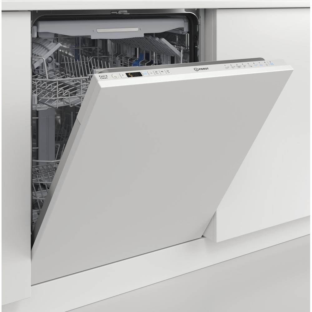 Indesit Umývačka riadu Vstavané DIO 3T131 A FE Full-integrated D Lifestyle perspective open