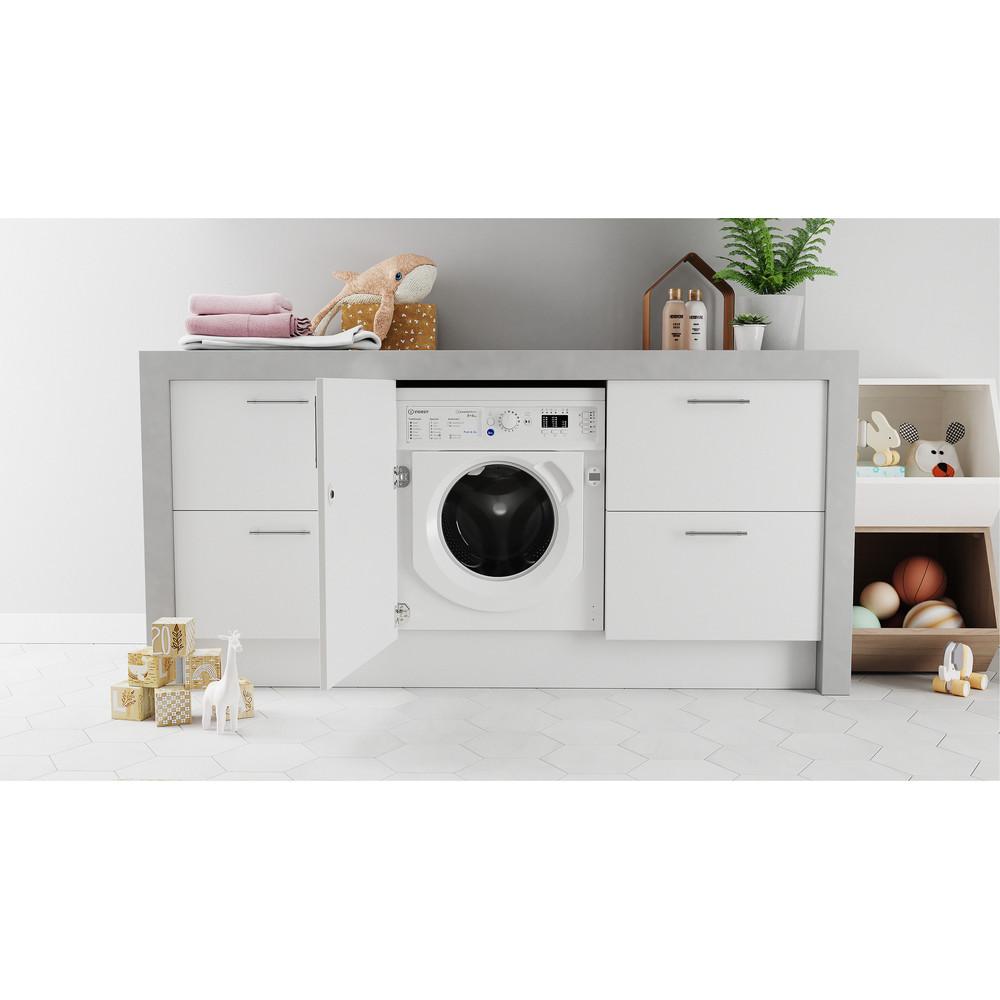 Indesit Washer dryer Built-in BI WDIL 861284 UK White Front loader Lifestyle frontal